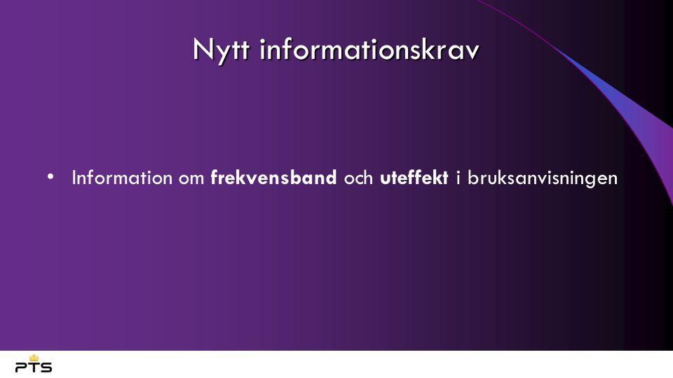 Nytt informationskrav