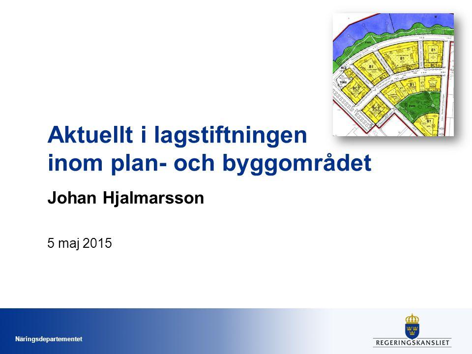 Aktuellt i lagstiftningen inom plan- och byggområdet