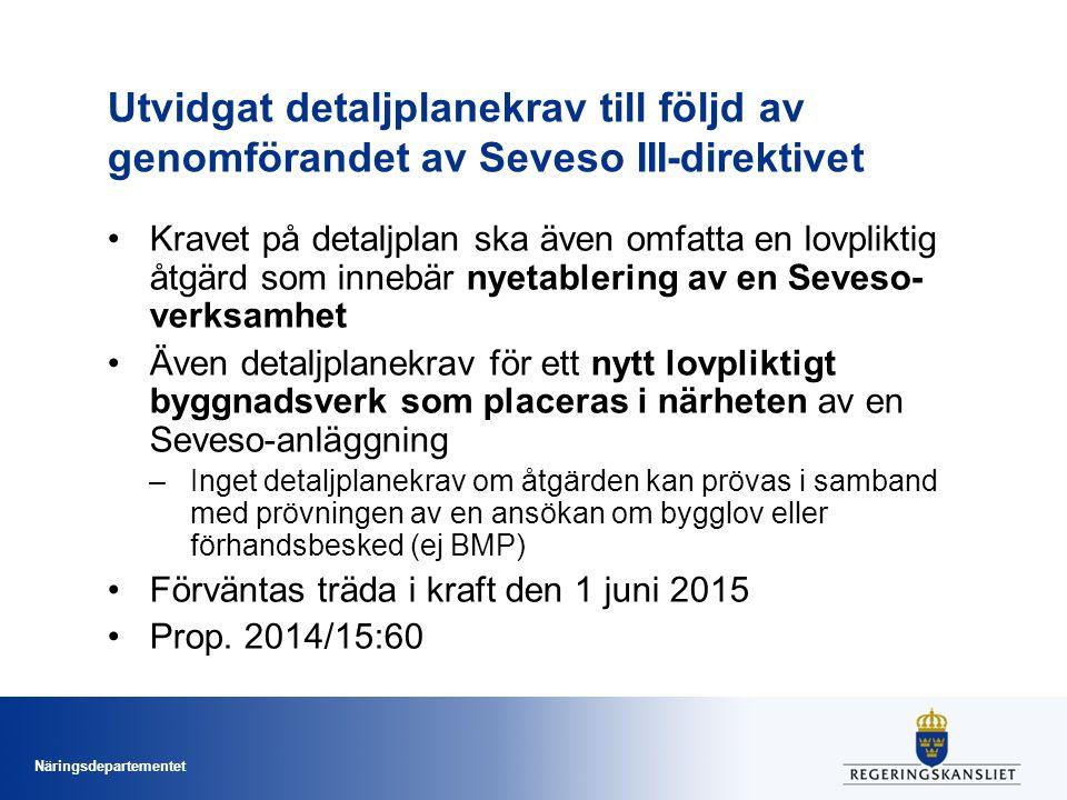 Utvidgat detaljplanekrav till följd av genomförandet av Seveso III-direktivet