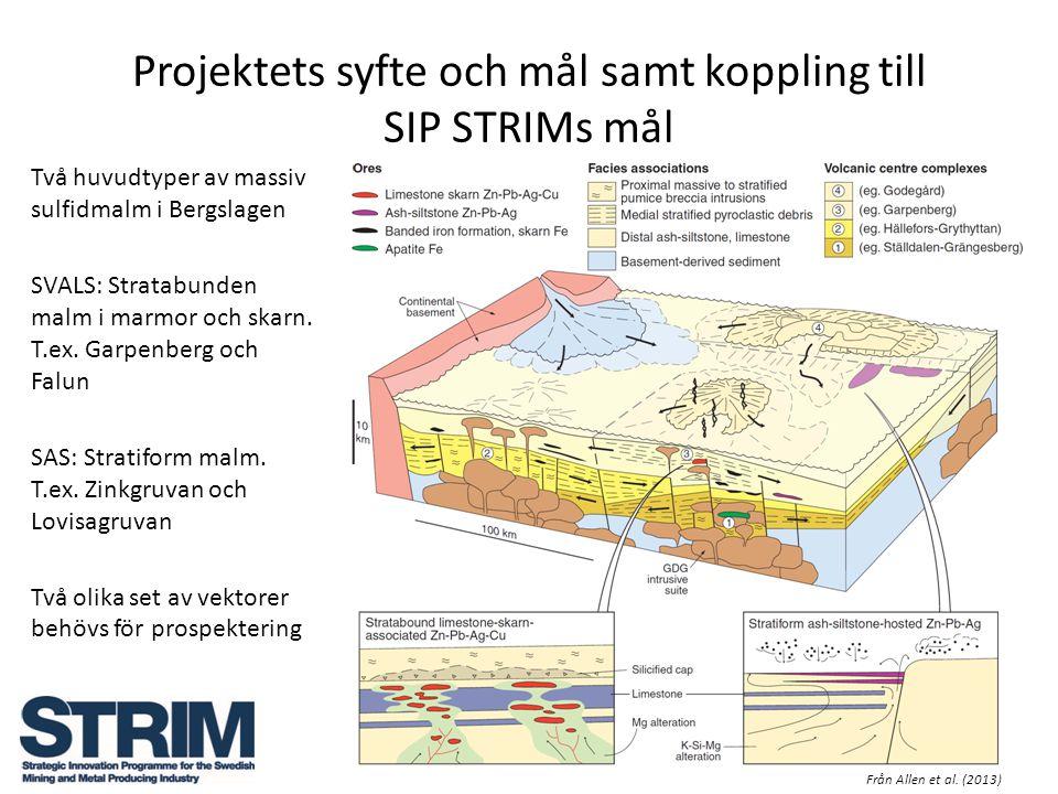 Projektets syfte och mål samt koppling till SIP STRIMs mål