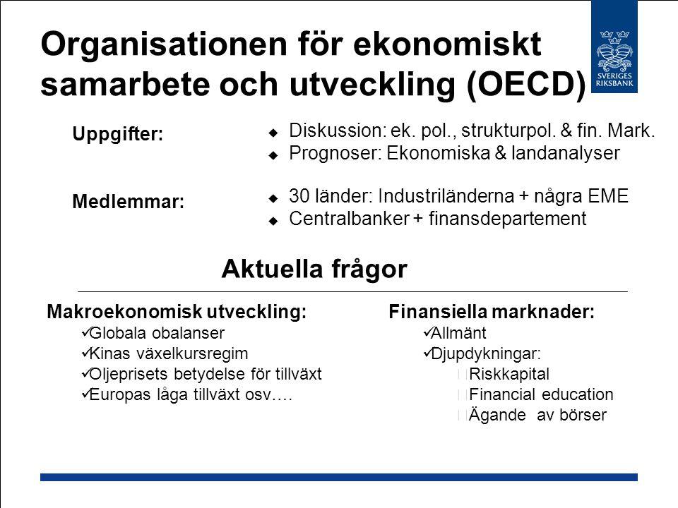 Organisationen för ekonomiskt samarbete och utveckling (OECD)