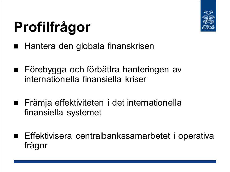 Profilfrågor Hantera den globala finanskrisen