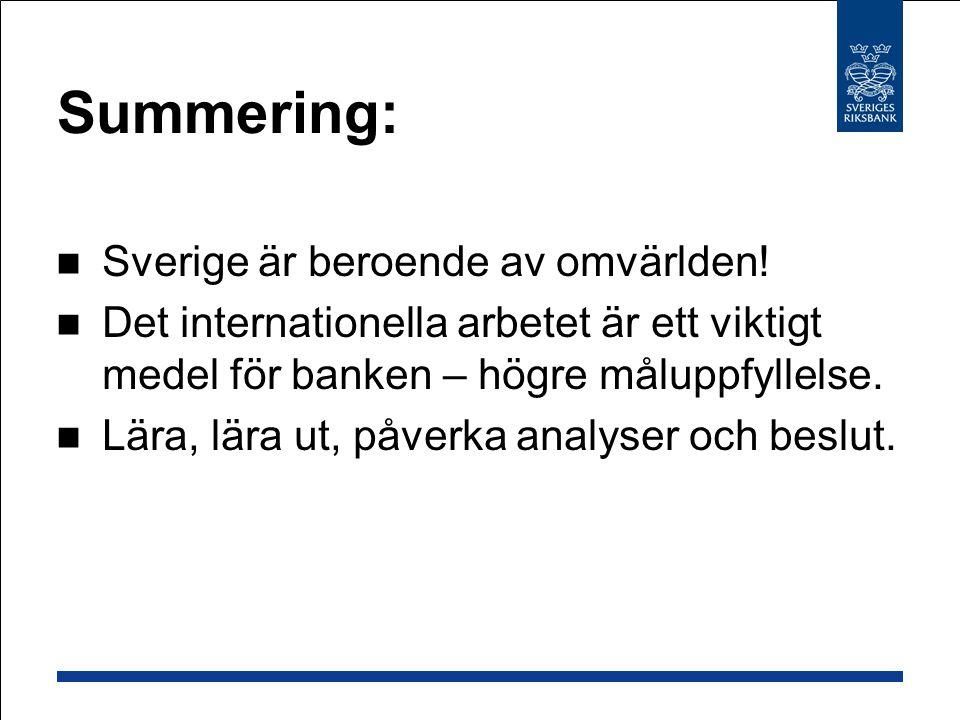 Summering: Sverige är beroende av omvärlden!