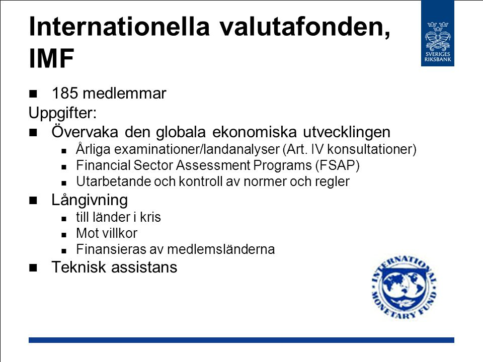 Internationella valutafonden, IMF