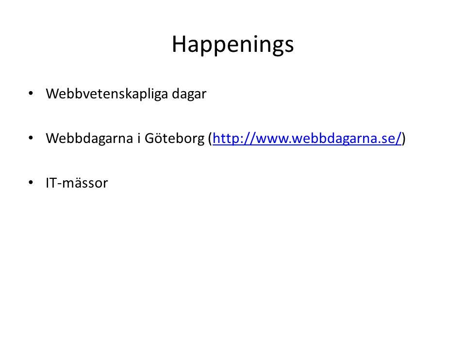 Happenings Webbvetenskapliga dagar