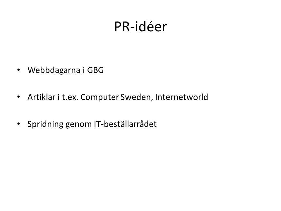PR-idéer Webbdagarna i GBG