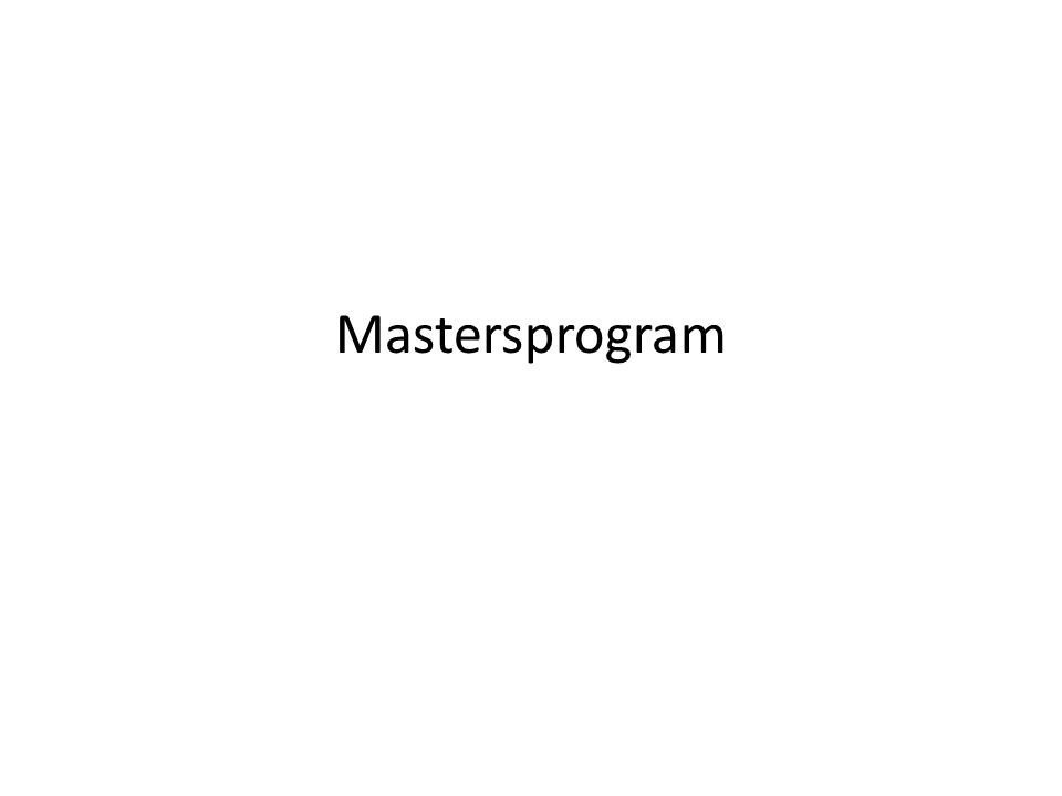Mastersprogram