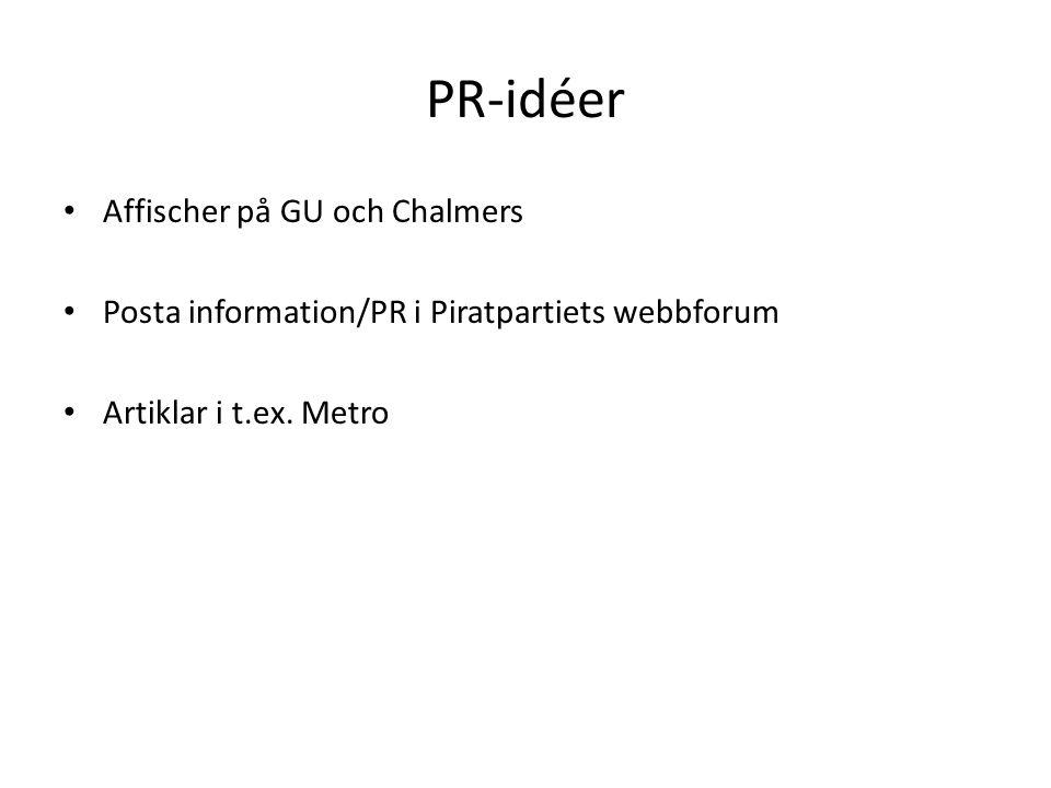 PR-idéer Affischer på GU och Chalmers