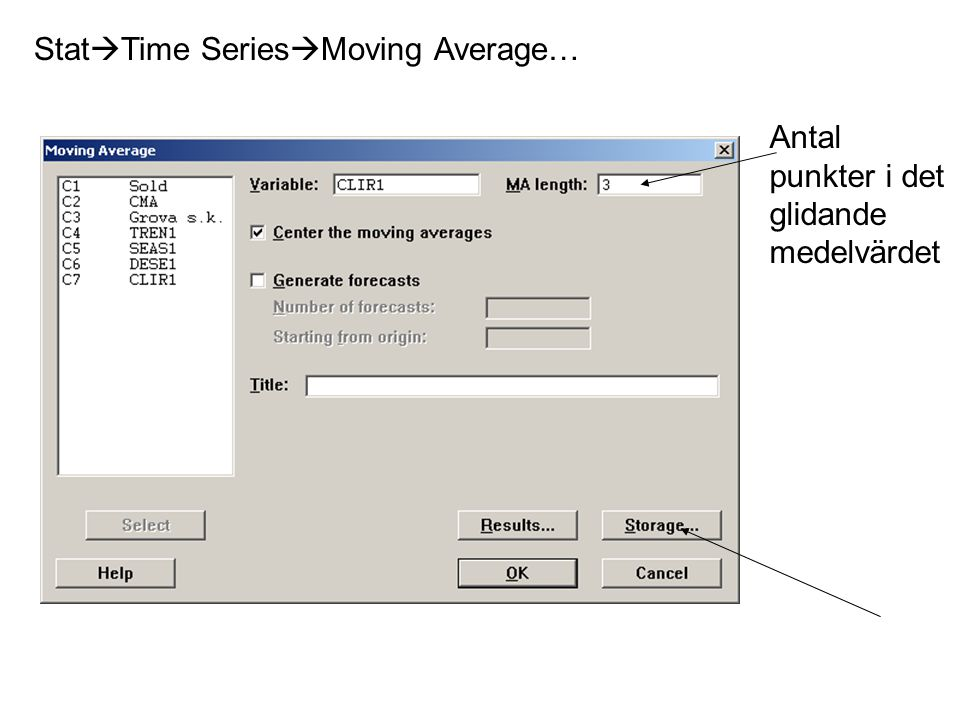 StatTime SeriesMoving Average…