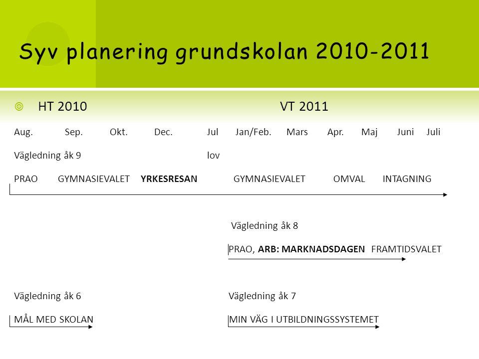 Syv planering grundskolan 2010-2011