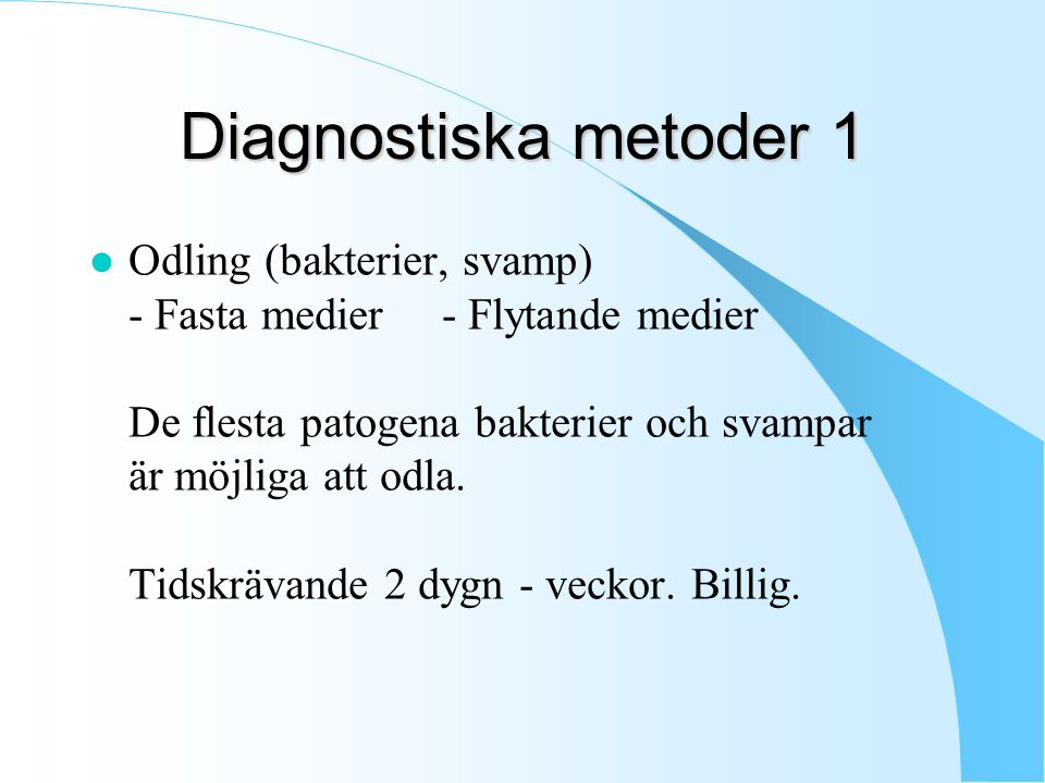 Diagnostiska metoder 1