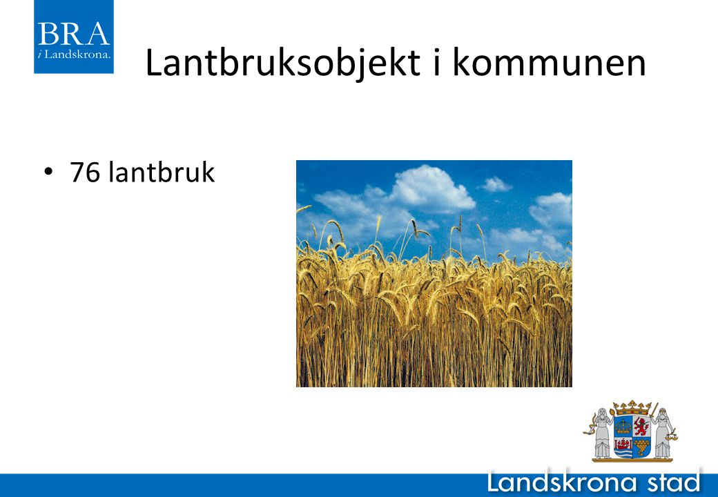 Lantbruksobjekt i kommunen