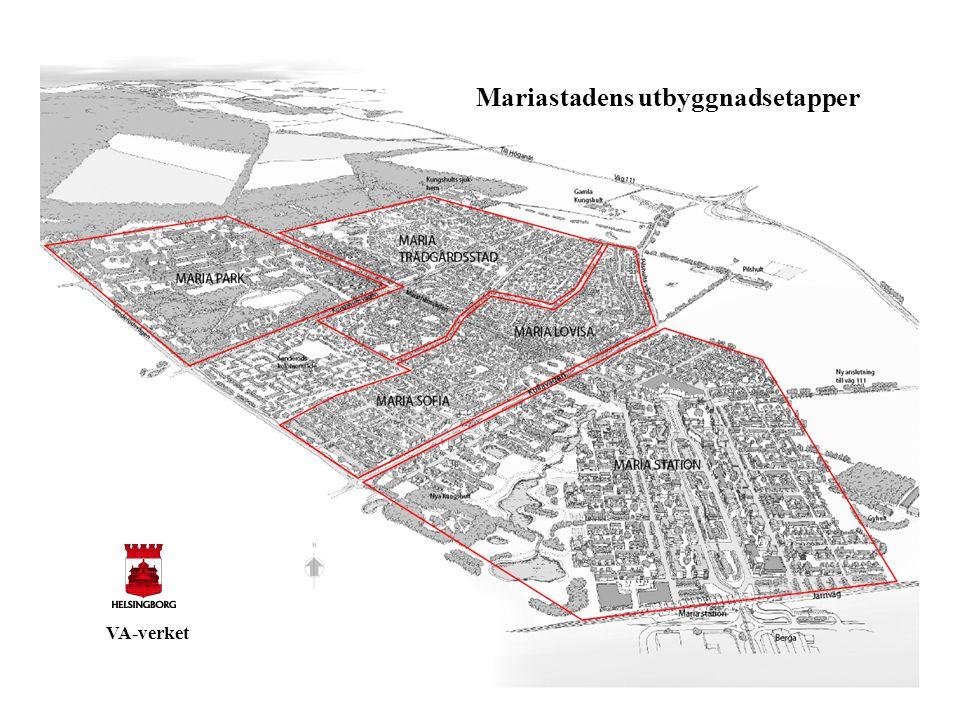 Mariastadens utbyggnadsetapper