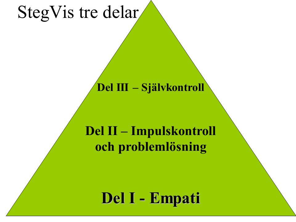 Del III – Självkontroll Del II – Impulskontroll och problemlösning