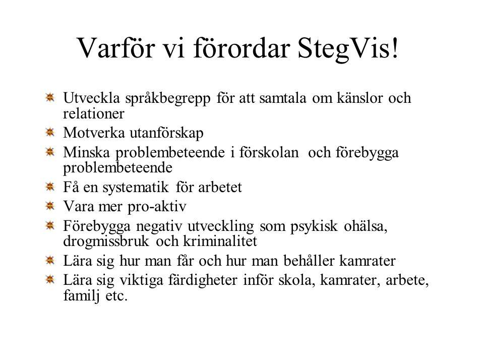 Varför vi förordar StegVis!
