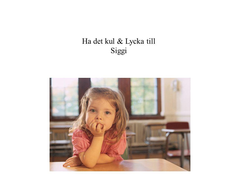 Ha det kul & Lycka till Siggi