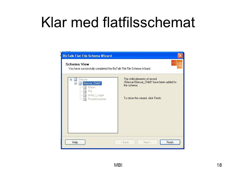 Klar med flatfilsschemat