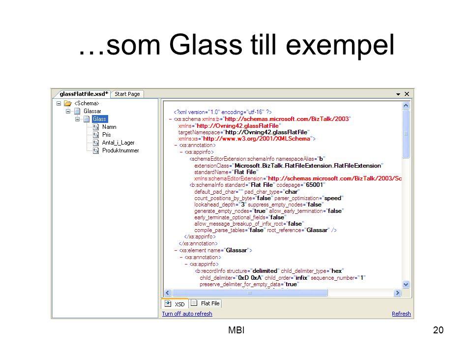 …som Glass till exempel
