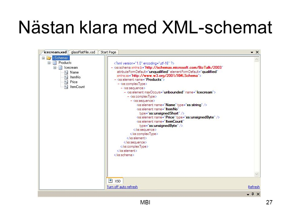 Nästan klara med XML-schemat