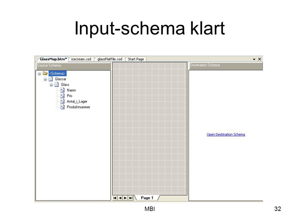 Input-schema klart MBl