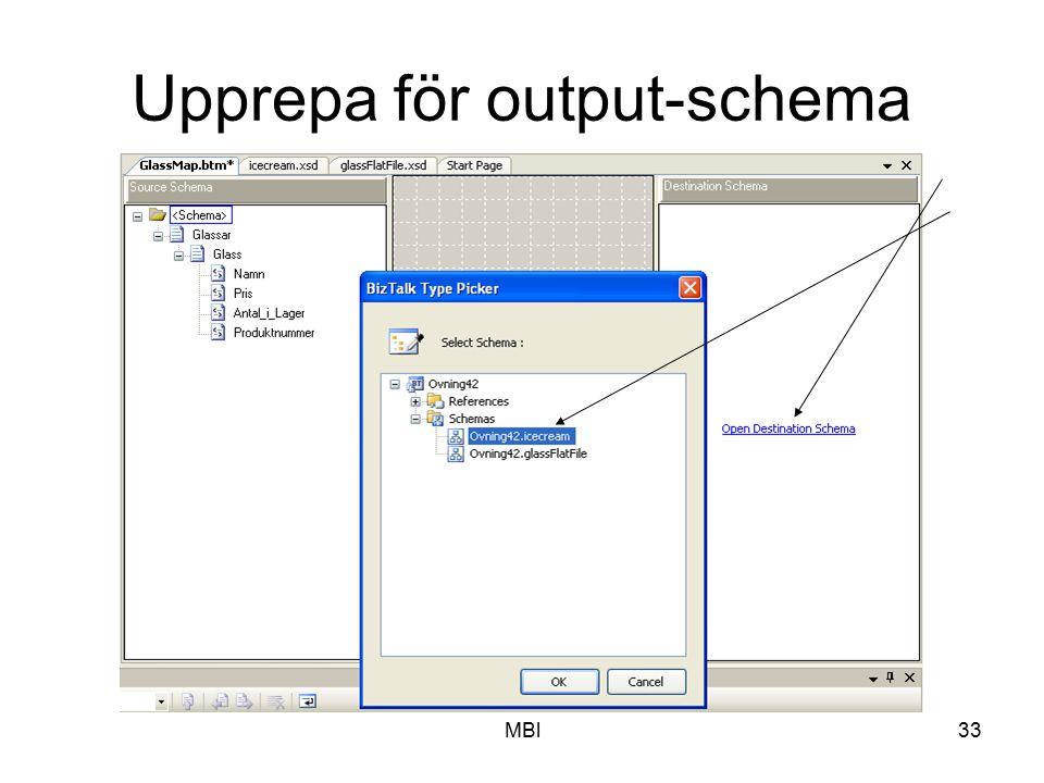 Upprepa för output-schema
