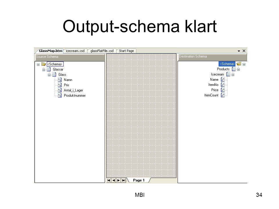 Output-schema klart MBl