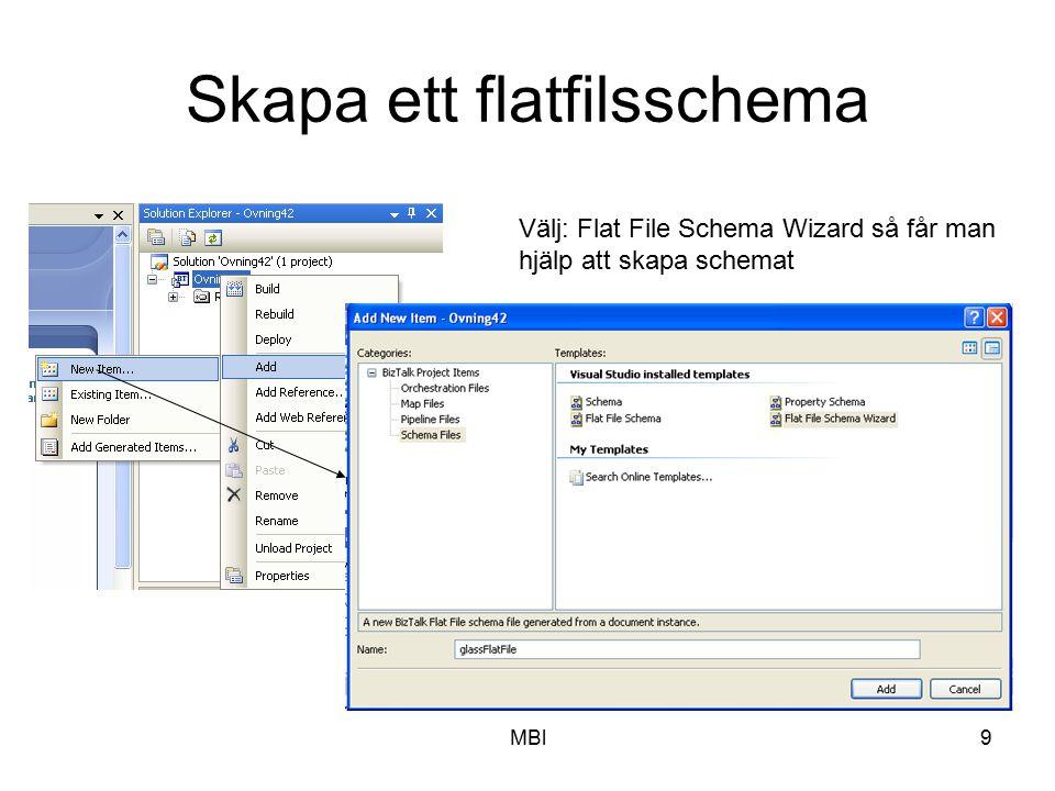 Skapa ett flatfilsschema