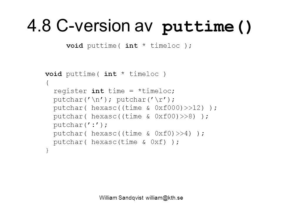 4.8 C-version av puttime()
