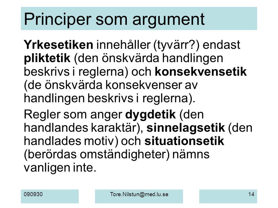Principer som argument