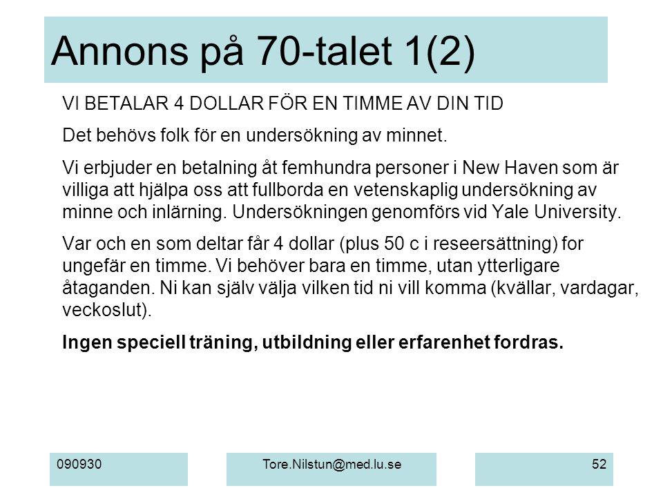 Annons på 70-talet 1(2) VI BETALAR 4 DOLLAR FÖR EN TIMME AV DIN TID