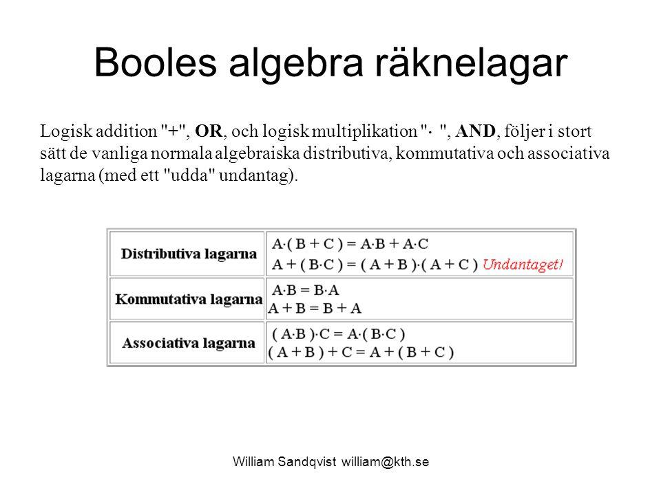 Booles algebra räknelagar