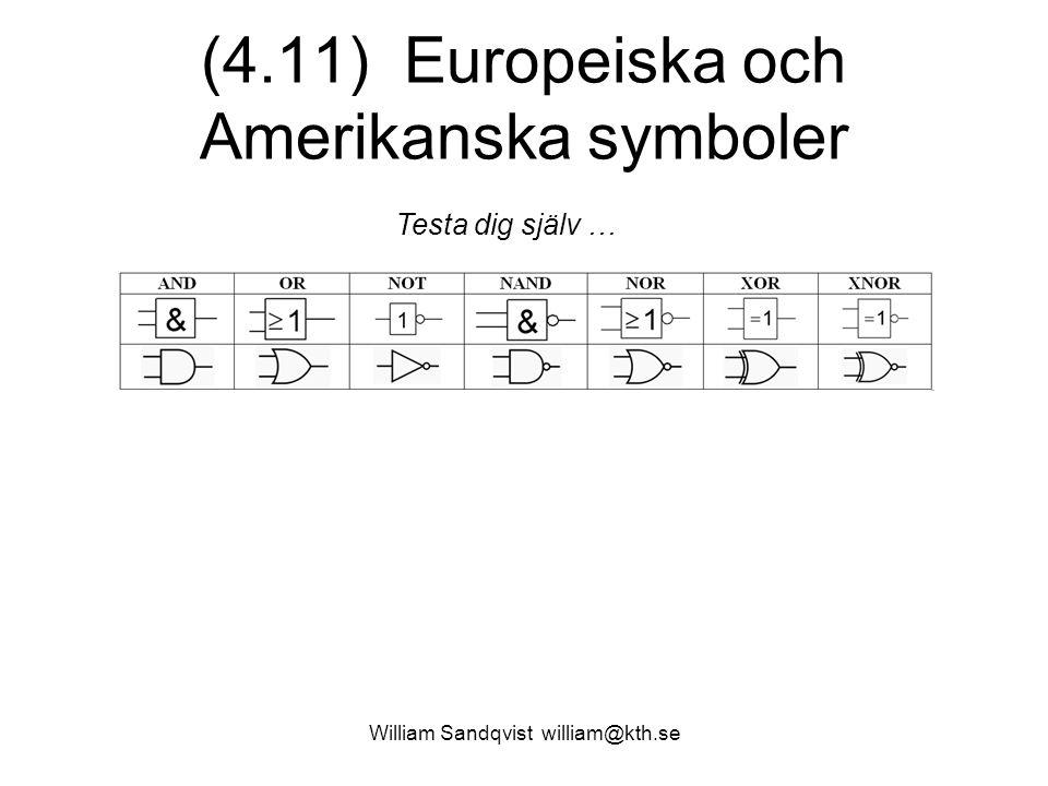 (4.11) Europeiska och Amerikanska symboler