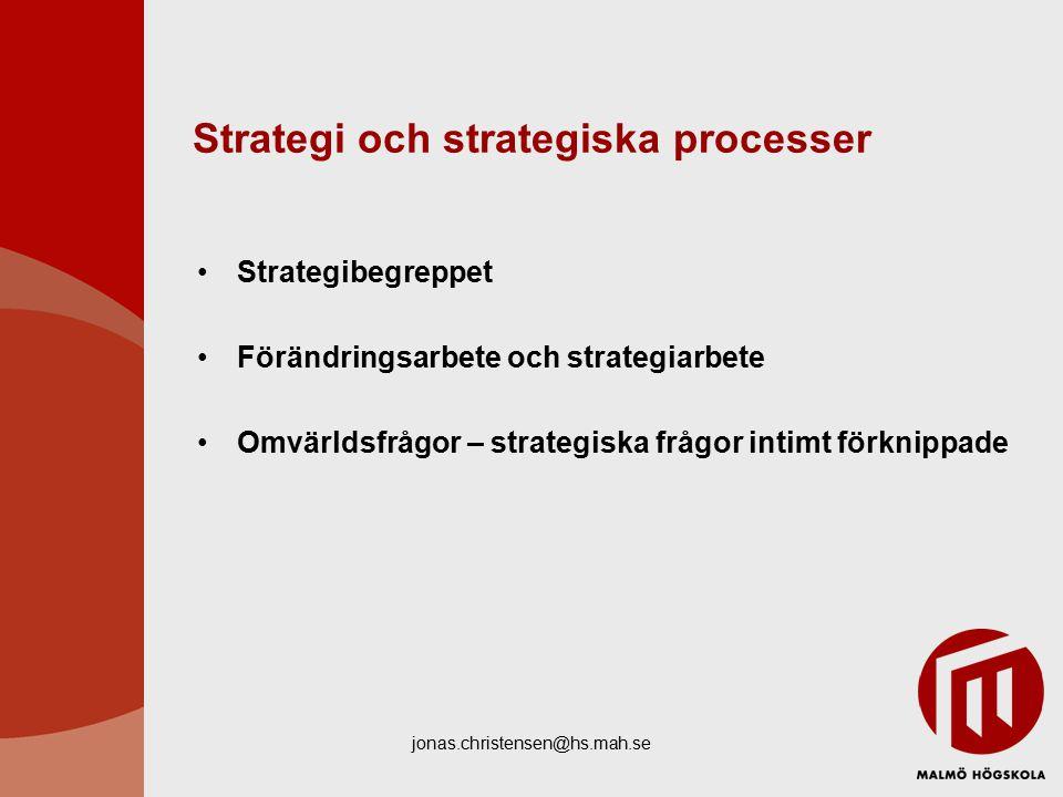 Strategi och strategiska processer
