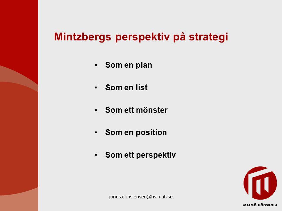 Mintzbergs perspektiv på strategi