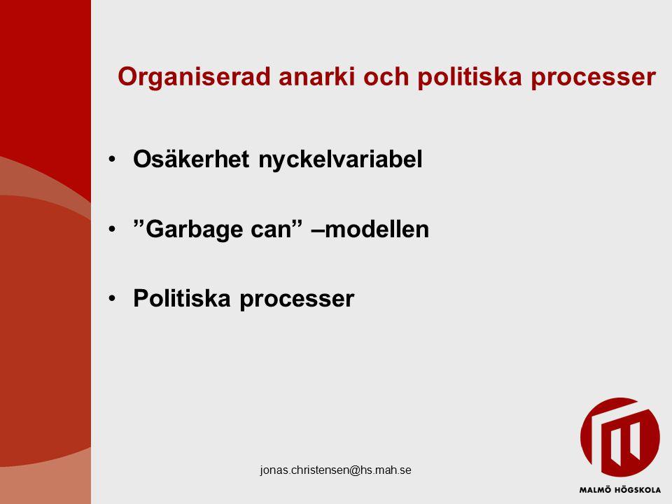 Organiserad anarki och politiska processer