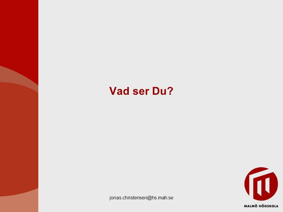 Vad ser Du jonas.christensen@hs.mah.se