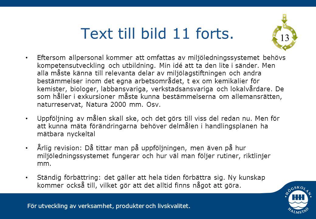 Text till bild 11 forts. 13.