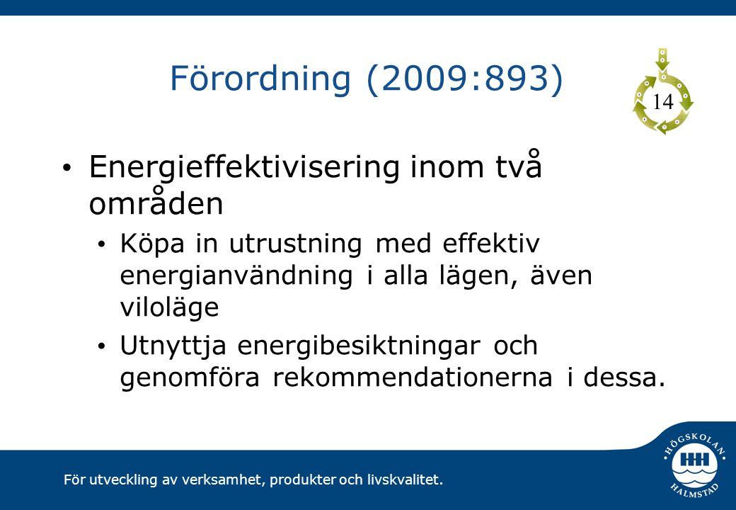 Förordning (2009:893) Energieffektivisering inom två områden