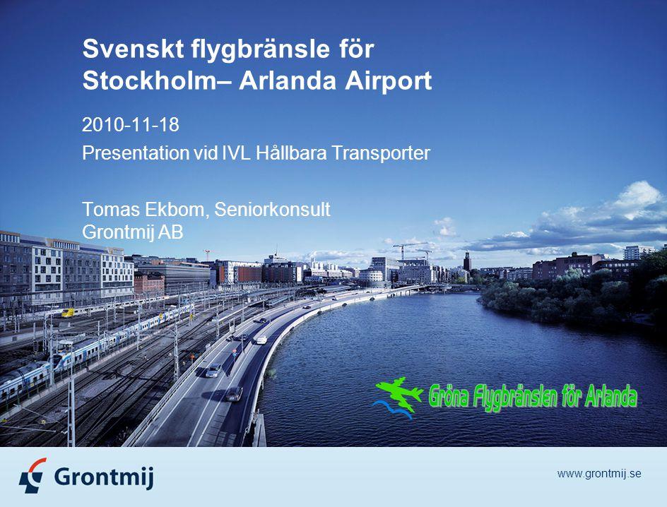 Svenskt flygbränsle för Stockholm– Arlanda Airport
