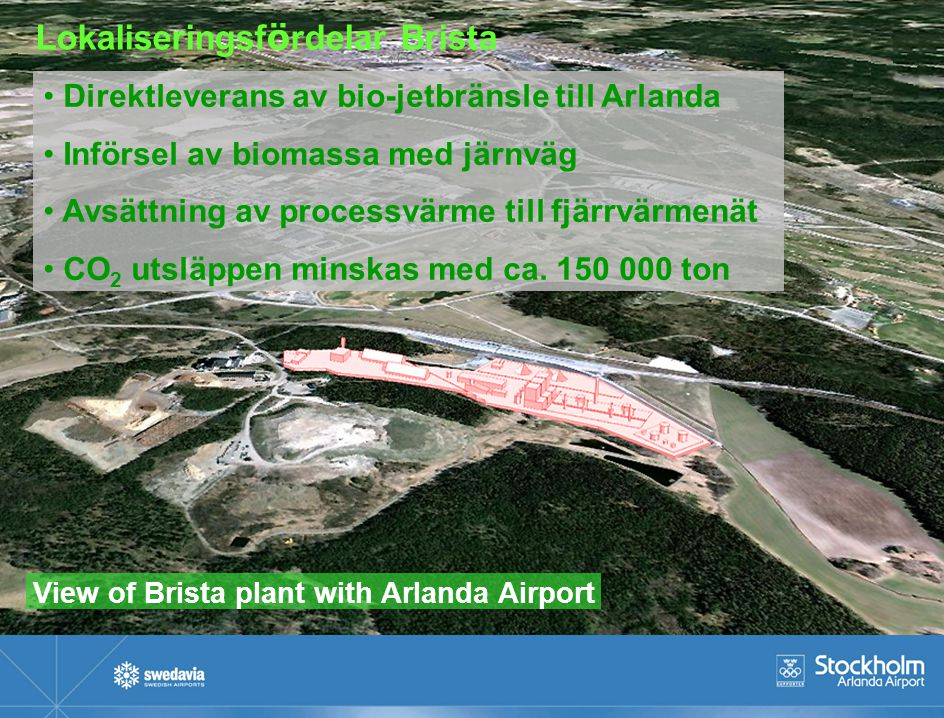 View of Brista plant with Arlanda Airport