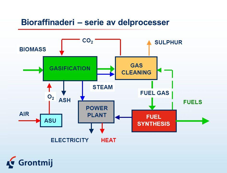 Bioraffinaderi – serie av delprocesser