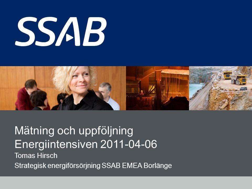Mätning och uppföljning Energiintensiven 2011-04-06