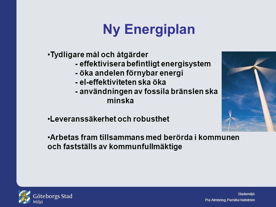 Ny Energiplan Tydligare mål och åtgärder