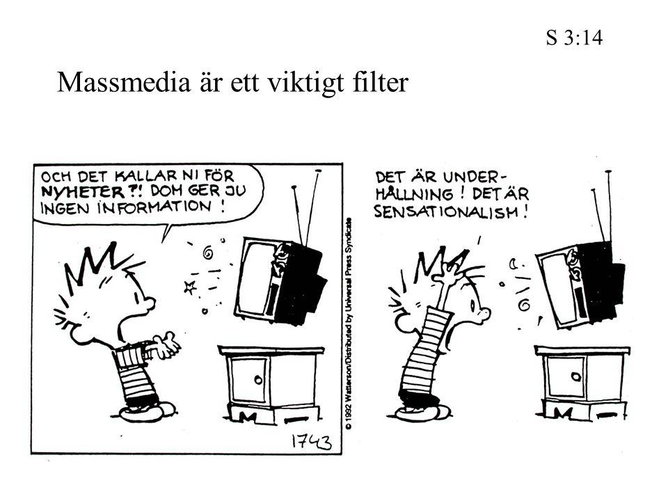 Massmedia är ett viktigt filter