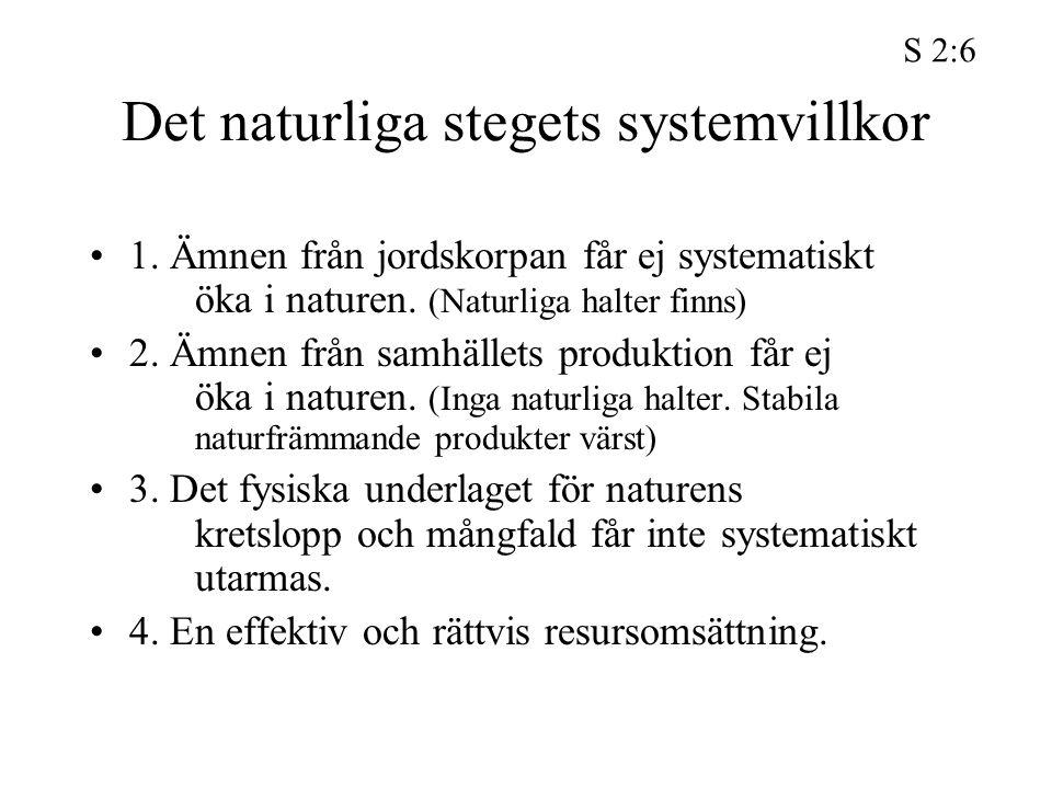 Det naturliga stegets systemvillkor