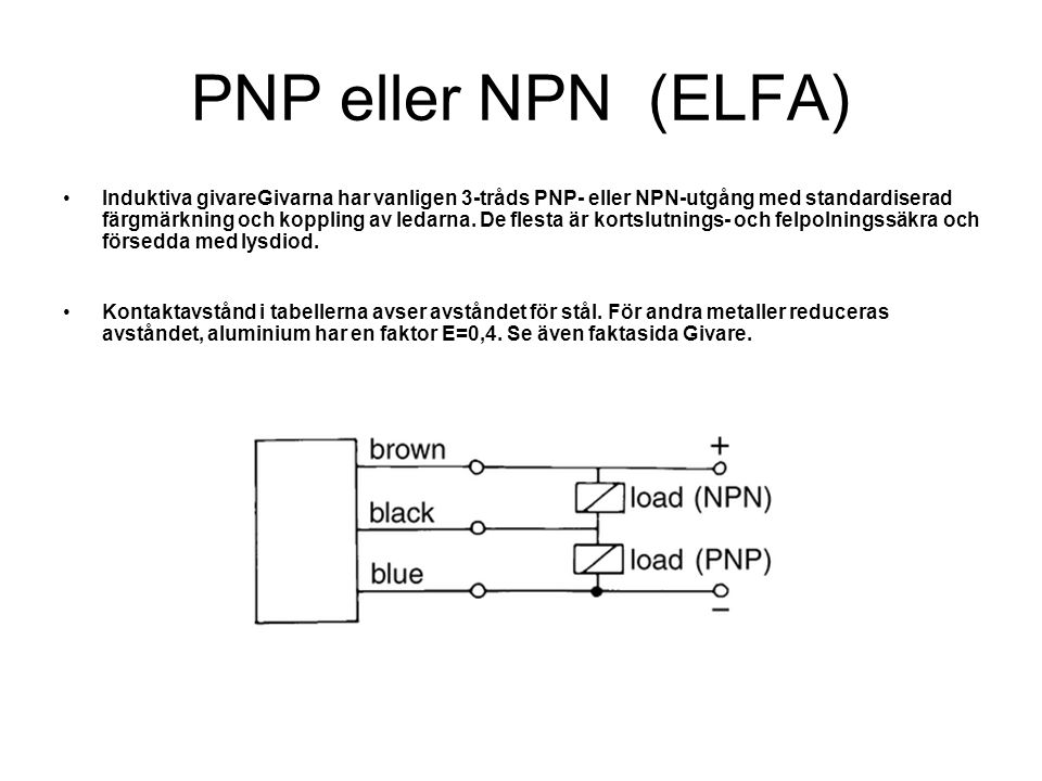 PNP eller NPN (ELFA)