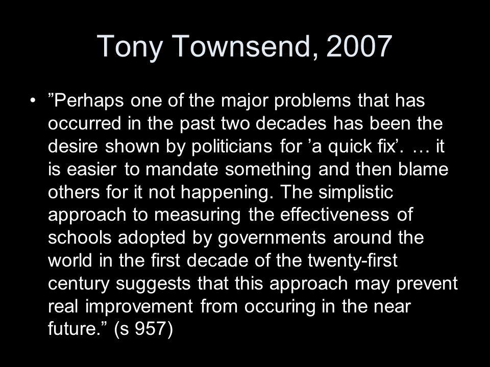 Tony Townsend, 2007