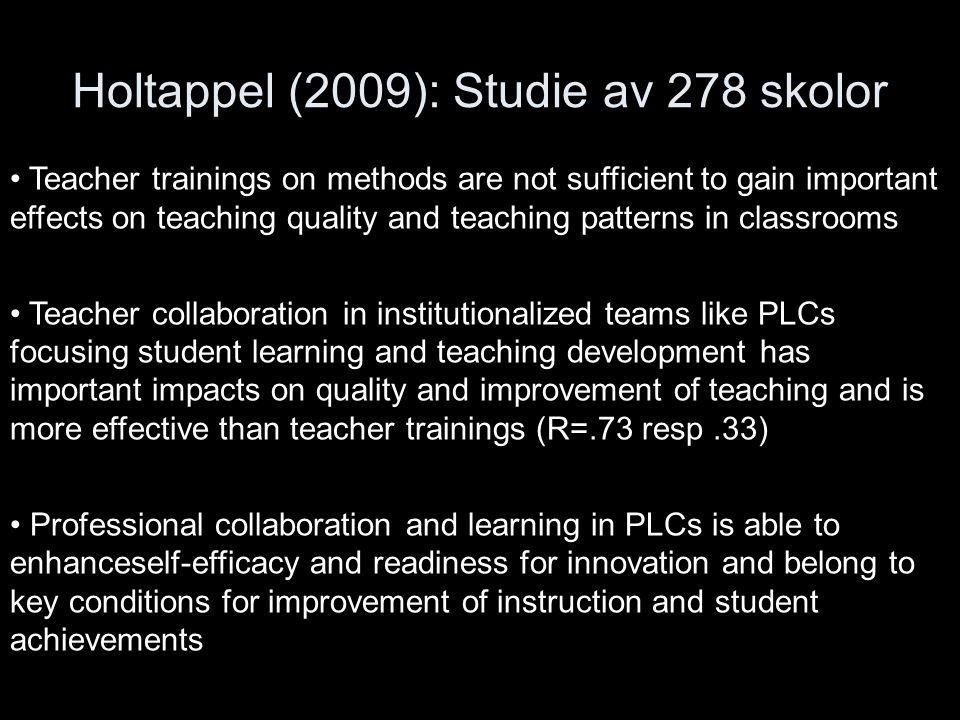 Holtappel (2009): Studie av 278 skolor