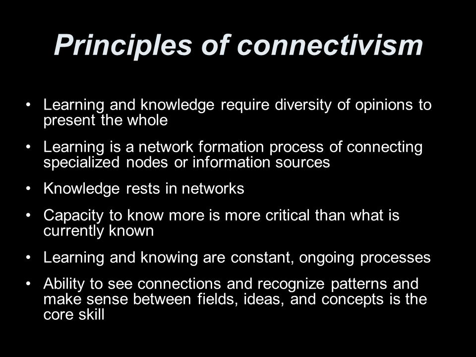 Principles of connectivism