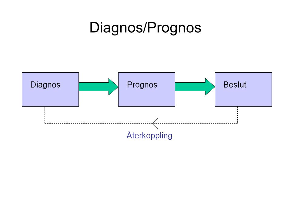 Diagnos/Prognos Diagnos Prognos Beslut Återkoppling